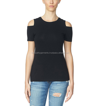c0778b9caf9e5 New Open Women Cold Shoulder Amazing Embroidery Design Lady Blouse Casual  Relax Elegant Top T shirt