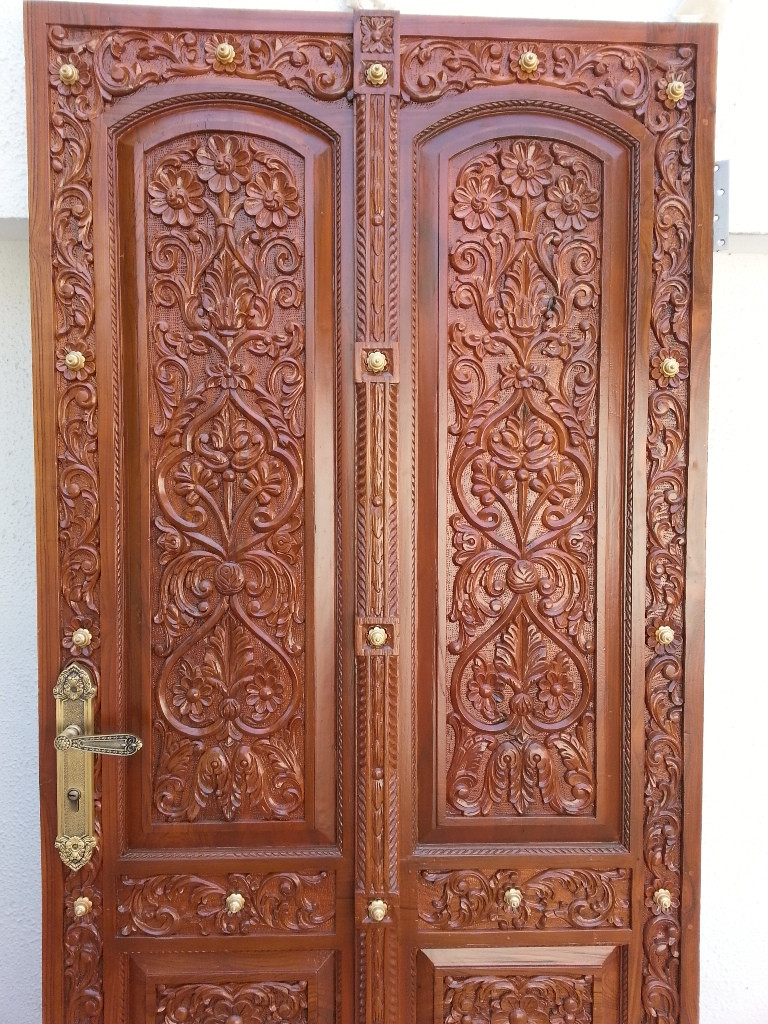 Indian main door designs of teak wood buy indian main for Wooden double door designs for main door