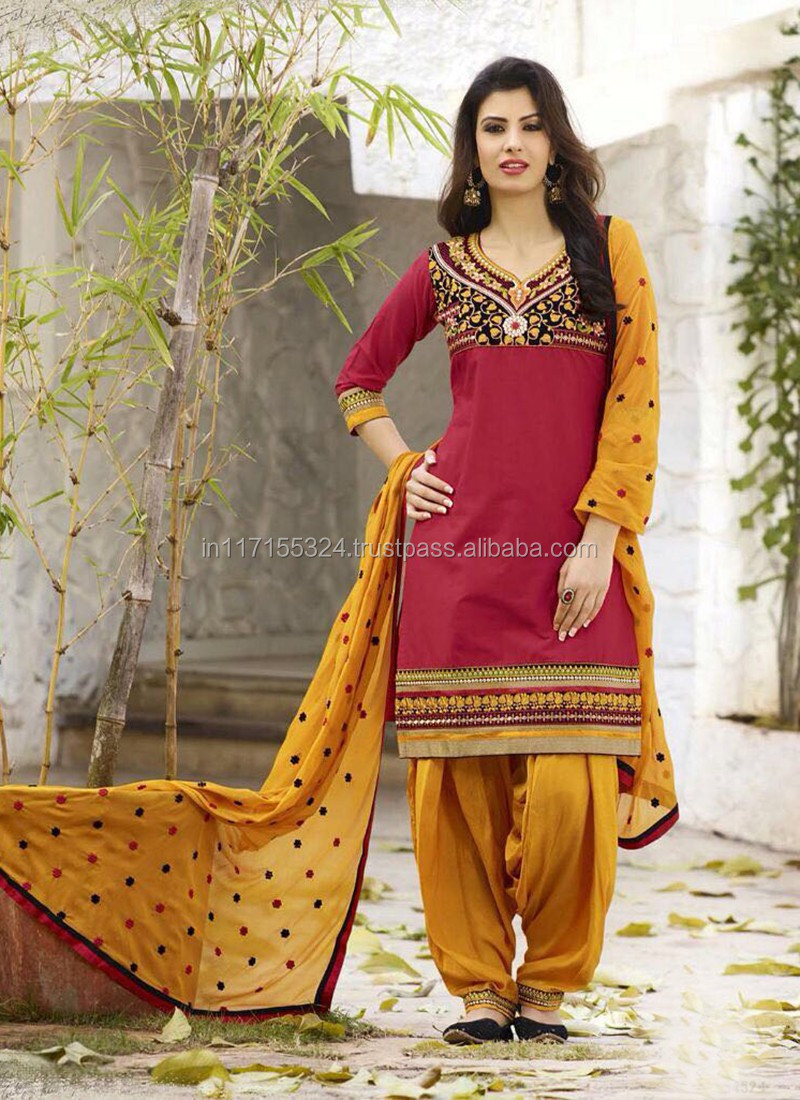 Punjabi Material-diseños Salwar Kameez Para Costura De Ropa India Al ...