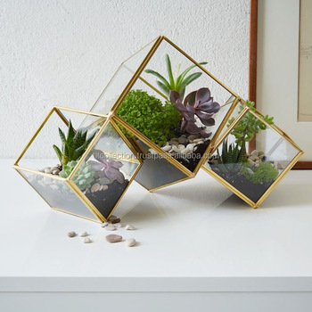 Hot Sale Geometric Glass Terrarium And Glass Cube Hanging Terrarium