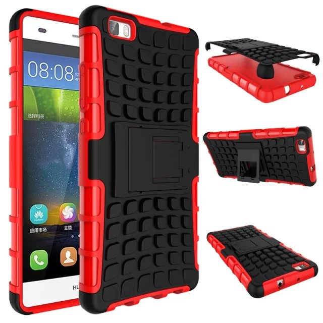 wholesale shenzhen Dual Layer TPU+PC Protecive Rugged Armor Hybrid Stand Case Shockproof Hard Cover For Huawei P8 lite/Y550