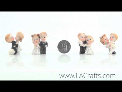 "1.5"" Poly Resin Wedding Couple Figurines from LACrafts.com"
