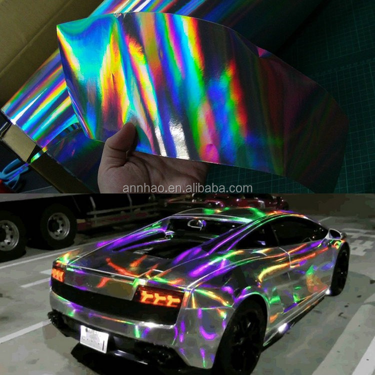 Premium Chrome Laser Rainbow Mirror Chrome Vinyl