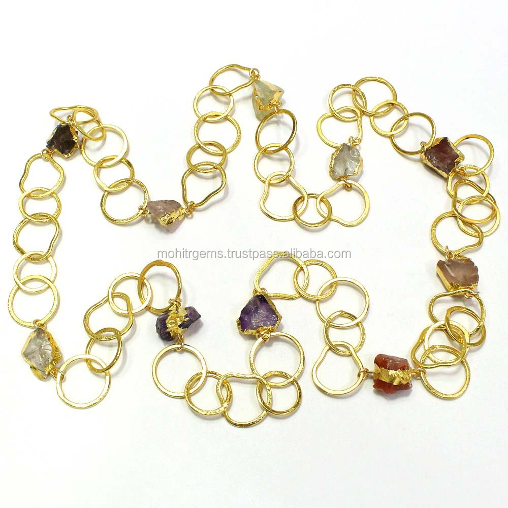 605aa508efdc9 22 Carat Gold Polish Rough Stone Long Link Chain Endless Necklace - Buy  Jewelry Necklace,Long Necklace,Endless Necklace Product on Alibaba.com