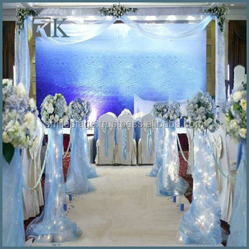 Chiffon For Drapery/wedding Cheap White Fabric For Draping With Poly ...