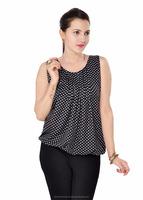 Latest Dot Print Blouse - Lilashah clothing factory ( 3589 )