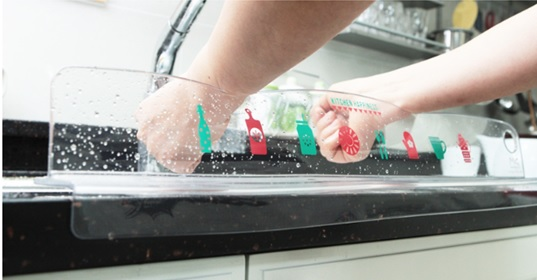 Kitchen sink acqua splash guard altri oggetti vari di uso for Splash guard kitchen sink
