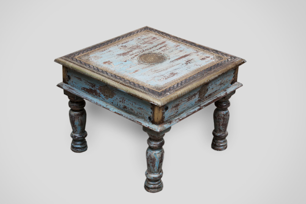 Indian Distressed Wooden Side Table Ethnic Tables Bed Product On Alibaba