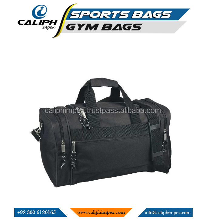 Blank Duffle Gym Bags Travel LUGGAGE Bag In Black sports CARRY ON Bag