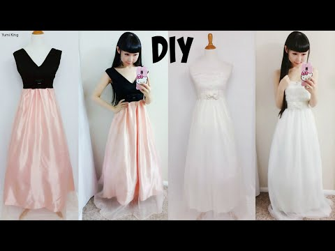 DIY Easy Wedding Dress & Prom Dress from Scratch Floor Length)| DIY Formal Dress