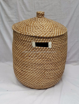 Captivating Seagrass Storage, Laundry, Hamper Basket With Lid And Without Lid. View  Larger Image