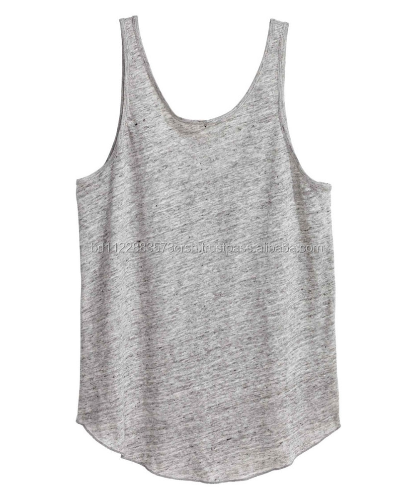 Cotton Curve Hem Ladies Stringer Vest