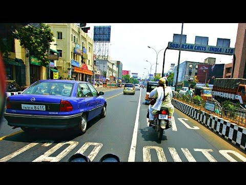 Driving Around Chennai City, India - 2014 HD