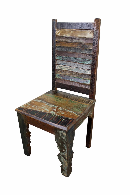 rstica silla de comedor de madera