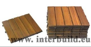 Camp 5 Indoor Outdoor Garden Acacia Wood Interlocking Tiles Decking Floor Removable Lowes Deck