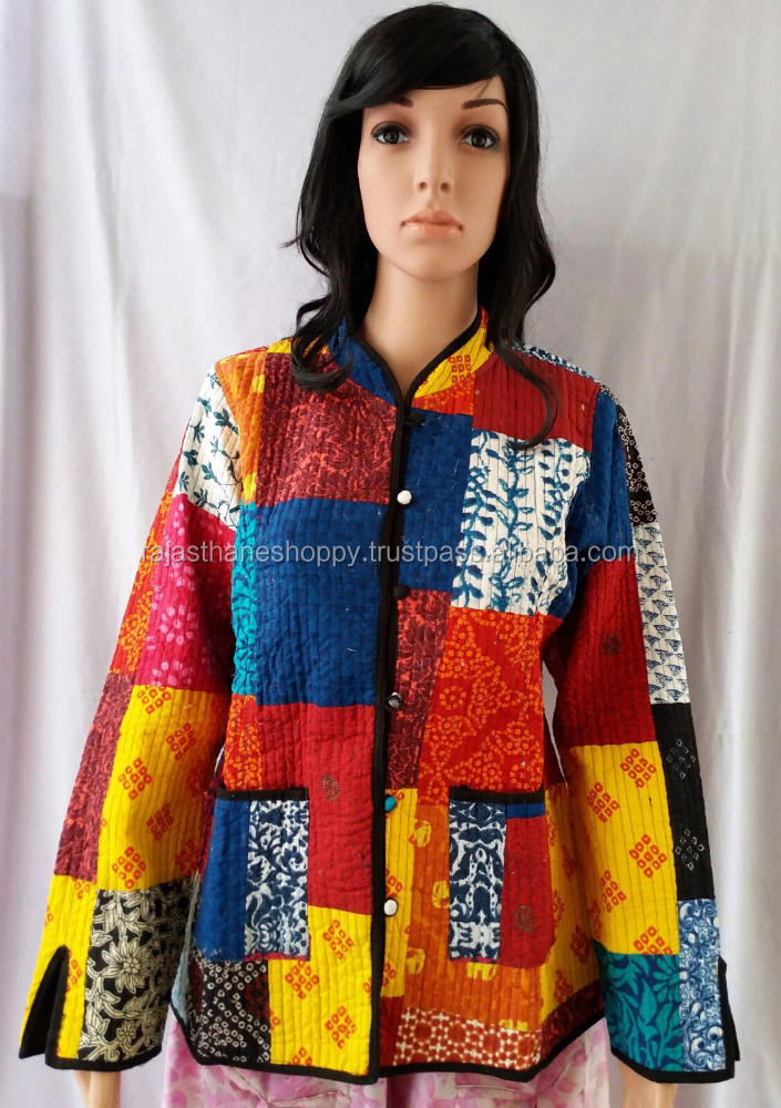 exclusive designer kantha jackets / adorable stylish ladies kantha jackets coat