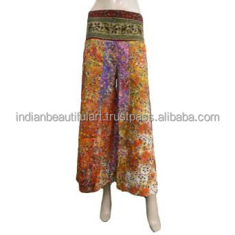 Bell Bottom Harem Long Women Wear Casual Dress Pants Orange Summer Boho Trouser Indian HRM375