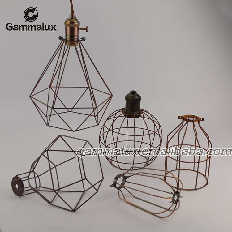 Different Style Cage Shade Iron Wire Bird Cage Pendant Lamp,Bird ...