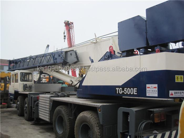 Tadano 50 Ton Mobile Crane In Shanghai China,Tadano Tg500e For ...