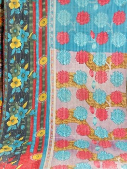Indian Old Vintage Kantha Quilt,Reversible 100% Cotton Quilts ... : indian sari quilts - Adamdwight.com