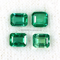 1.79 Cts Natural Top Lustrous Green Emerald Octagon Cut Mix Lot Untreated Zambia