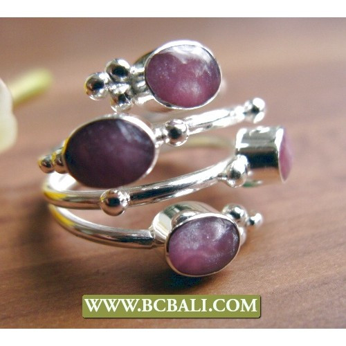 silver alpaka rings with stone