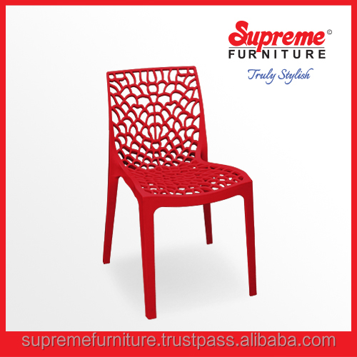 Plastic Molded Rattan Finish Outdoor Garden Chairs Furniture Heavy Duty Chair