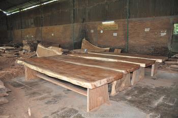 Live Edge Wood Table SlabSuar Acacia Dining TableSolid Wood - Wood slab conference table