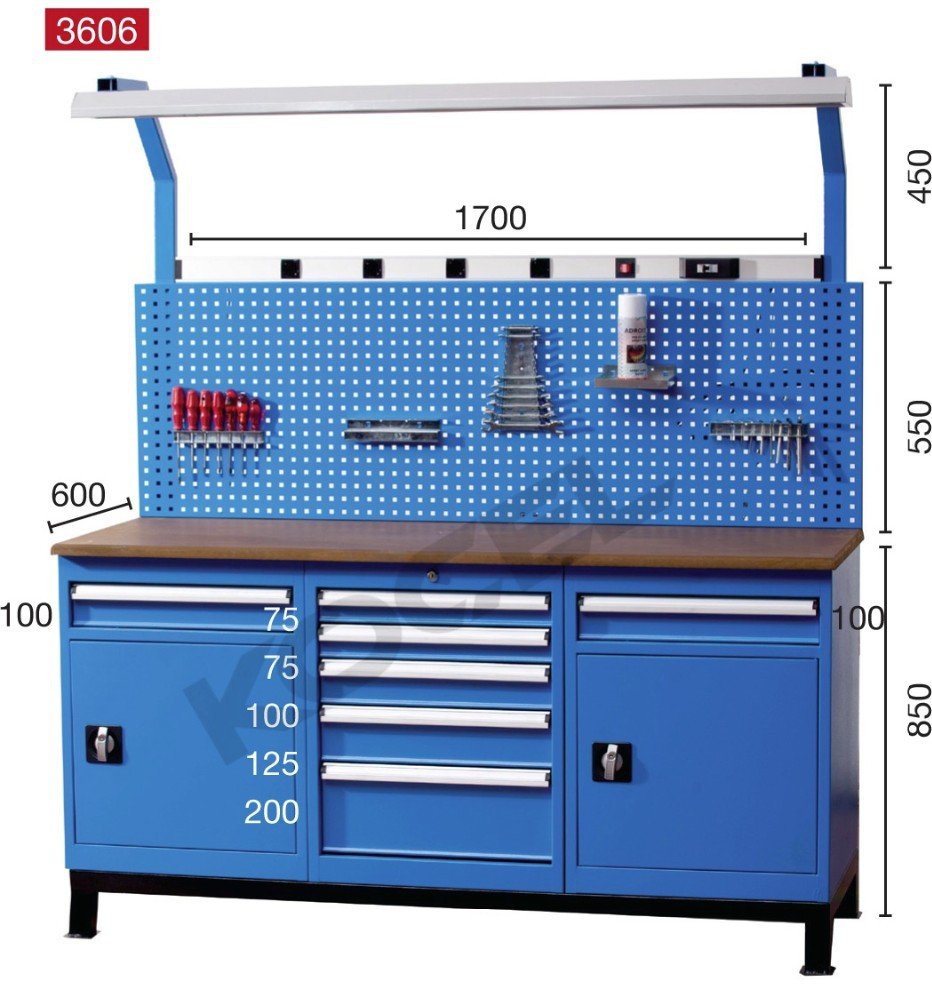 worktable metal product drawers tool drawer with top detail workbench garage roller wood