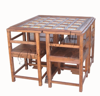 Indian Wholesale Sheesham Wood Furniture Dining Table Set With Chairs For  Restaurant
