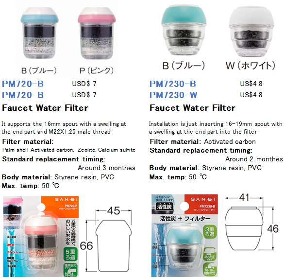 Japanese Compact faucet mounted top water filter for home use, View ...