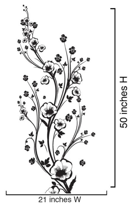 Diseño De Flores En Negro Imagui