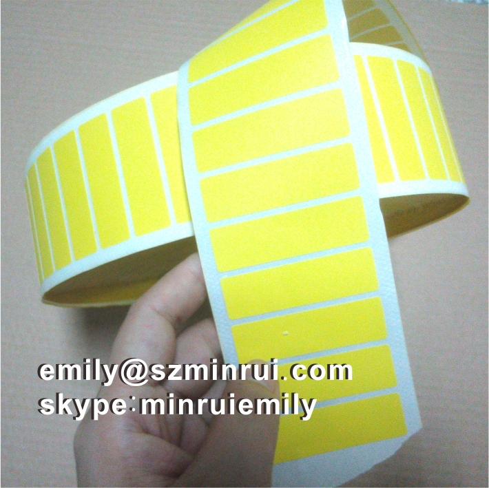 Custom Blank Yellow Destructible Vinyl Label RollYellow Blank - Custom vinyl stickers utah