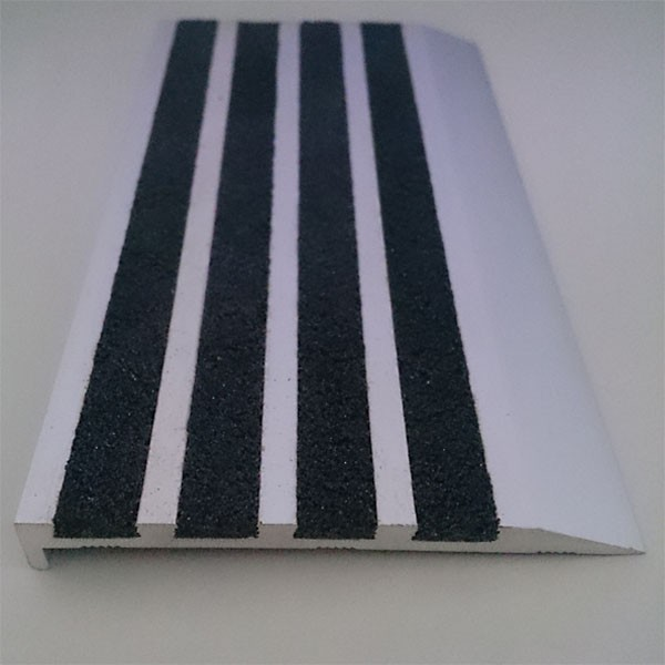 Four Abrasive Grit Strip Infill Outdoor Stair Treads For