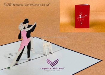 3d pop up card dancers with sweetheart love card buy 3d pop up
