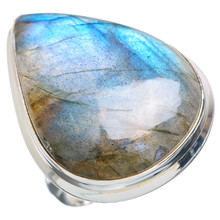 Wholesale price silver jewellery, Top quality natural Labradorite ring