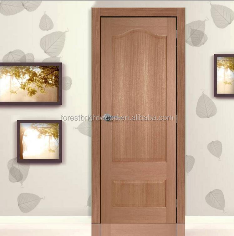 Mahogany Veneer Interior Doors, European Style Wooden Doors