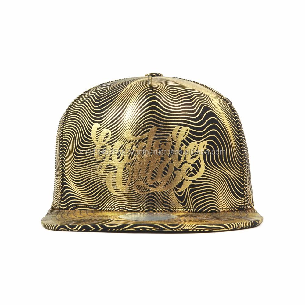 FL234-FL237  CONTOUR PATTERN FLIPPER snapback cap GOLD cap  printing  design snapback  high quality cap f0d3ab11ba2