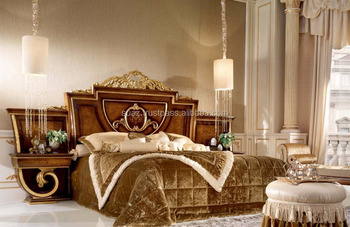 Brown Color Wooden Bedroom Furniture Wooden American Style Bed Set