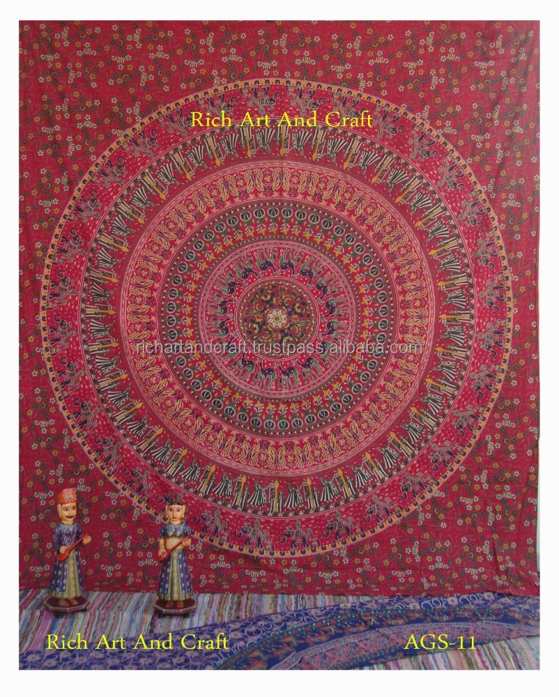 Indische mandala decor tapijt muur opknoping gooien sprei hippie ...