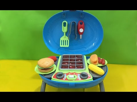 Children's Toys # Toy Barbecue Grill, hamburger hot dog - Kitchen Toys for Children