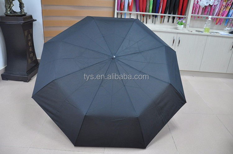 High Quality Standard Regular Design Black Classic Folding Umbrella