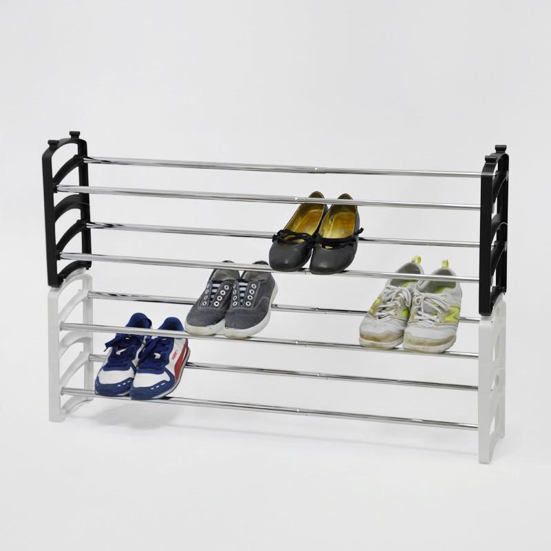 Customer Made Plastic Double Adjustable Shoe Rack