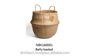 Vietnam Seagrass Belly Basket,Fashion Bag,Vietnam Houseware