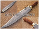 Kestrel Brilliant Custom Handmade Damascus Steel Full Tang Hunting/Bowie Knife.