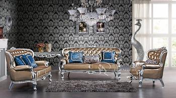 Furniture Luxury Arabic Sofa Handmade Carved Wood Frame Living Room  Furniture Sofa Part 42