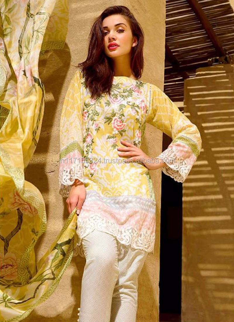3cd6fac67a9 Pakistani designer long kurtis 2016 - Party wear salwar kameez - Indian ladies  suits fancy salwar