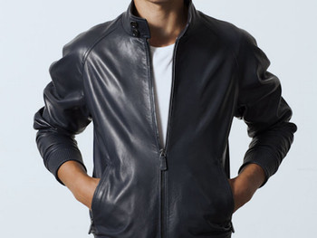 5a659047c Classic Brando Black Blue Flame Men's Motorcycle Biker Hide Real Leather  Jacket - Buy New Designed High Quality Mens Leather Jackets,Mens Leather ...