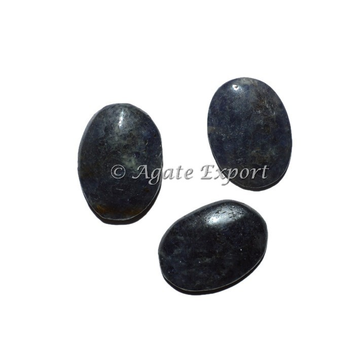 Iolite Oval Cabs : Natural Polished Gemstone Oval Shape Cabochons