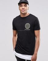 Super Longline T-Shirt With Globe Map Back Print And Hem Extender